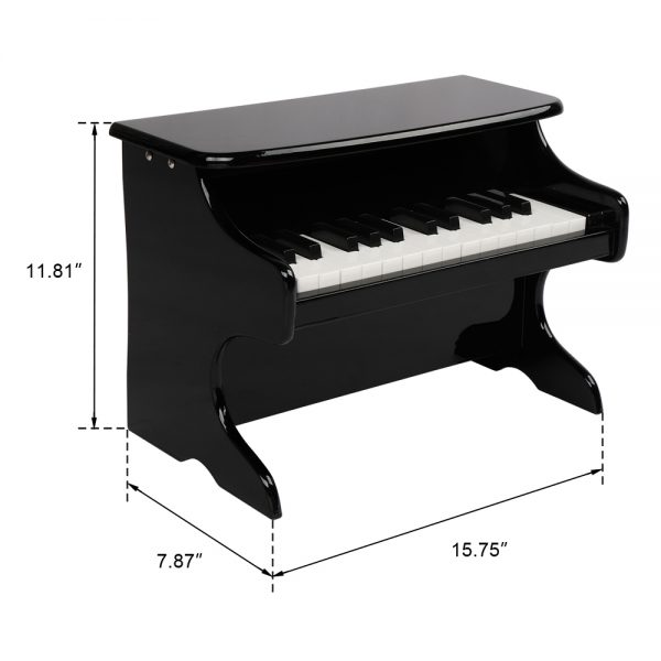 25-key Children's Wooden Piano / Vertical (without Chair) Mechanical Sound Quality Black