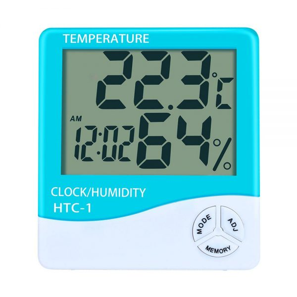 Digital LCD Thermometer and Clock