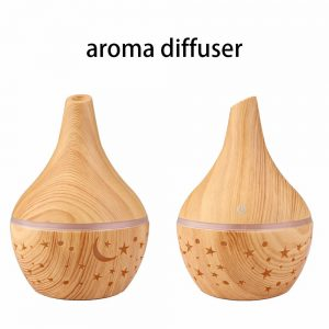 Electric Led Oil Essential Aroma Diffuser Hollow Star Moon Humidifiers Air Purifier